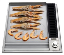 """Stainless Steel with Stainless Steel Trim 15"""" - Built -in Griddle Gas Cooktop"""