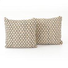 "20x20"" Size Mariposa Diamond Pillow, Set of 2"