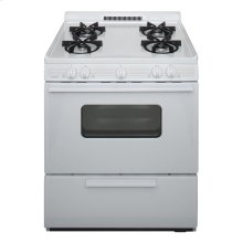 30 in. Freestanding Battery-Generated Spark Ignition Gas Range in White
