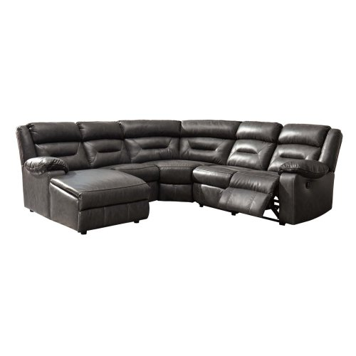 LAF Chaise 6Pc Reclining Sectional w/Console