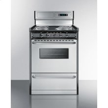 "Deluxe 220v Electric Range In Slim 24"" Width With Stainless Steel Doors"