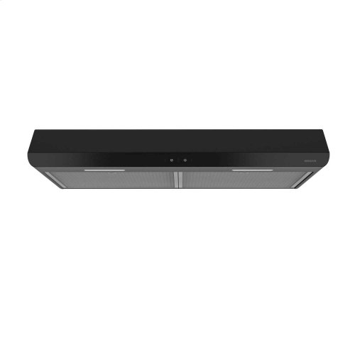 Sahale 30-inch 250 CFM Black Range Hood with LED light