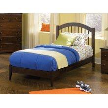 Windsor Twin Open Foot Bed Walnut