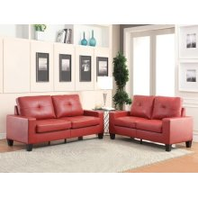 PLATINUM II RED SOFA/LOVESEAT