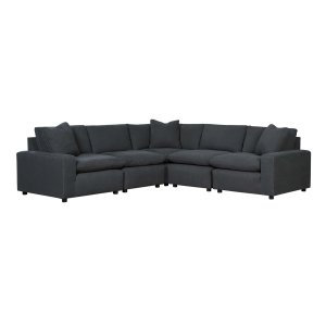Ashley Furniture Savesto - Charcoal 5 Piece Sectional