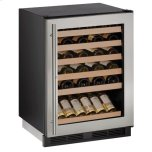 "U-LINE24"" Wine Refrigerator With Stainless Frame Finish (115 V/60 Hz Volts /60 Hz Hz)"