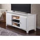 Nantucket 50 inch Entertainment Console with Adjustable Shelves in White Product Image