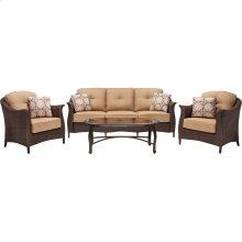 Gramercy 4-Piece Wicker Patio Seating Set
