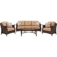 Gramercy 4-Piece Wicker Patio Seating Set