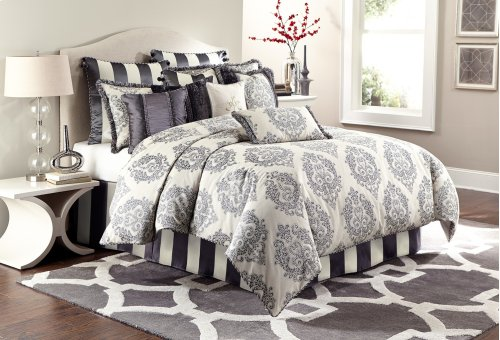13 Pc King Comforter Set Graphite