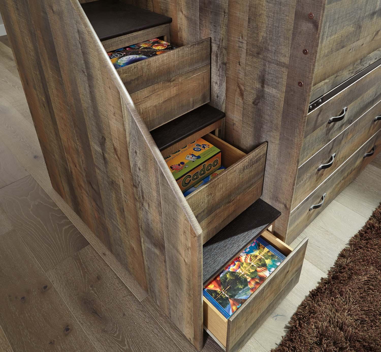 Hidden · Additional Left Storage Steps W/Loft Ends