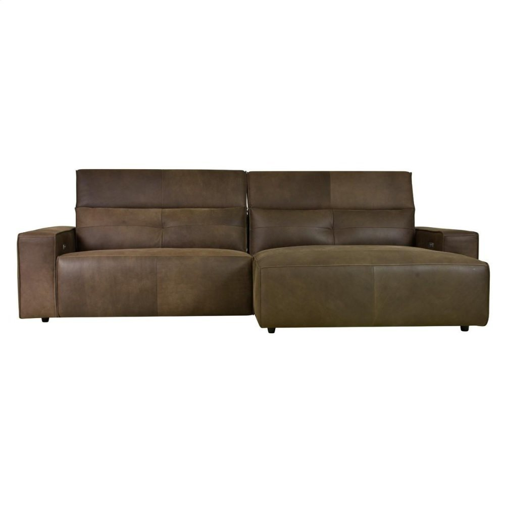 Davis Recliner Sectional w/ RAF Chaise