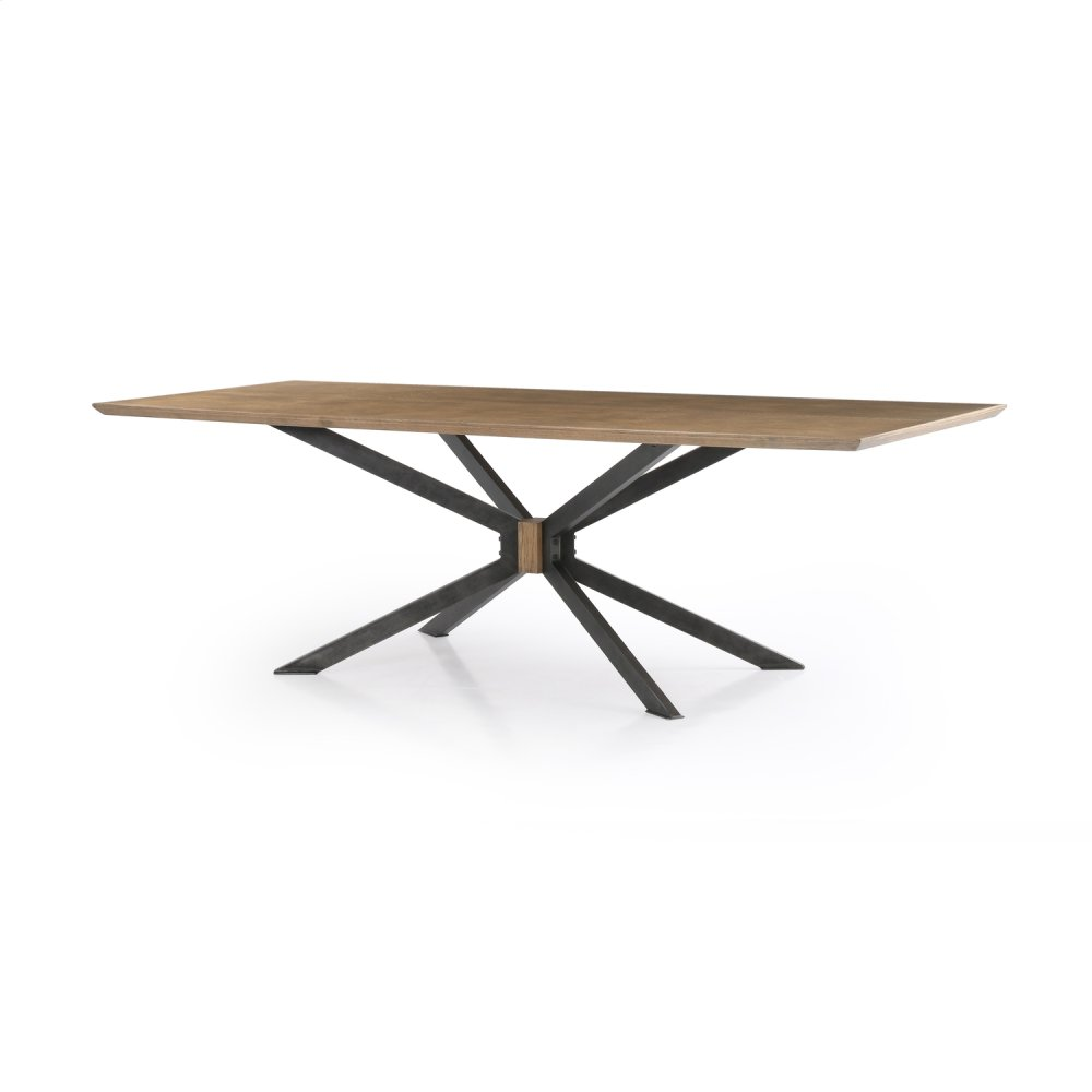 """Bright Brass Clad Finish 94"""" Size Spider Dining Table"""