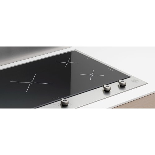 36 Segmented Cooktop 5 induction zones Stainless Steel