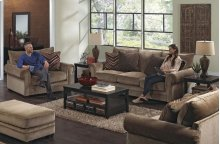 434202 Anniston Loveseat in Saddle (2697-36) Accents in Fireside (2717-54) Mink (2718-48)