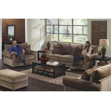 434203 Anniston Sofa in Saddle (2697-36) Accents in Fireside (2717-54) Mink (2718-48)