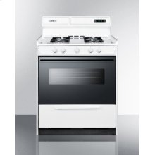 """Deluxe Gas Range In 30"""" Width With Electronic Ignition, Digital Clock/timer, Black See-through Glass Oven Door and Light"""