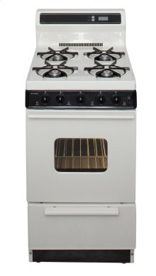 20 in. Freestanding Gas Range in Biscuit