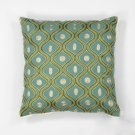 "L106 Teal/gold Gramercy Pillow 18"" X 18"" Product Image"