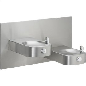 Elkay Slimline Soft Sides Heavy Duty Bi-Level Fountain, Non-Filtered Non-Refrigerated Freeze Resistant Stainless