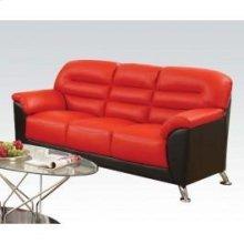 Black/red Pu Sofa
