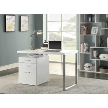 Contemporary White Writing Desk
