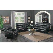 Willemse Dark Brown Reclining Three-piece Living Room Set