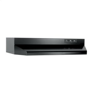Broan30-Inch Under Cabinet Range Hood with Light in Black with EZ1 installation system