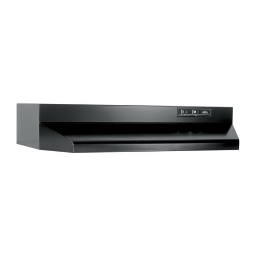 30-Inch Under Cabinet Range Hood with Light in Black with EZ1 installation system