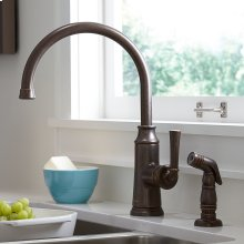 Portsmouth 1-Handle High-Arc Kitchen Faucet with Side Spray - Oil Rubbed Bronze
