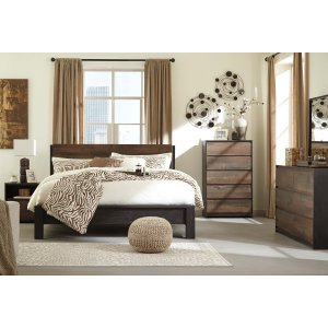 Ashley Furniture Windlore - Dark Brown 3 Piece Bed Set (King)