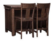 Trudell - Dark Brown 3 Piece Dining Room Set