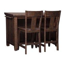 Trudell - Dark Brown 3 Piece Dining Room Set