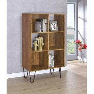 CoasterSheeran Rustic Amber Bookcase