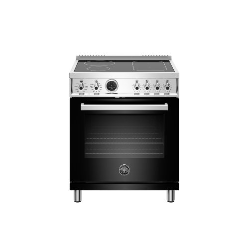 30 inch Induction Range, 4 Heating Zones, Electric Self-Clean Oven Nero