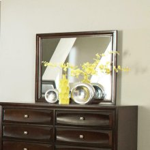 Jaxson Transitional Cappuccino Dresser Mirror