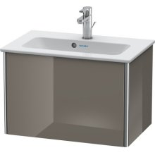 Vanity Unit Wall-mounted Compact, Flannel Gray High Gloss Lacquer