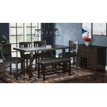 American Rustics Dining With Four Stools