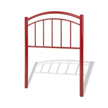 Rylan Fashion Kids Metal Headboard Panel with Gently Arced Top Rail and Vertical Spindles, Tomato Red Finish, Full