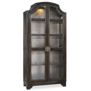 Hooker FurnitureLiving Room Sanctuary Glass Bunching Curio-Ebony Antiqued Oak