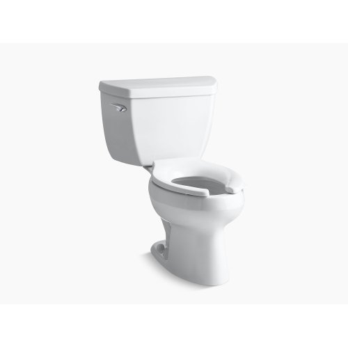 White Classic Two-piece Elongated 1.0 Gpf Toilet With Pressure Lite Flush Technology and Tank Cover Locks, Less Seat
