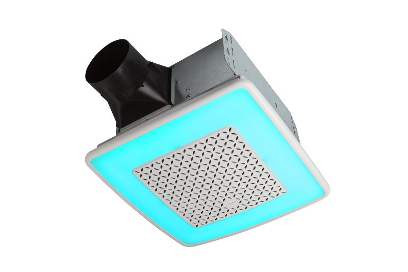AER110RGBL Broan ChromaComfort Ventilation Fan with Multicolor LED