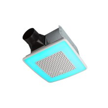 ChromaComfort Ventilation Fan with Multicolor LED Light and Control -- Coming Soon