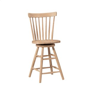 WHITEWOOD INDUSTRIES 285-24 Wood Seat Only, 30''H Stool Also Available (285-30)
