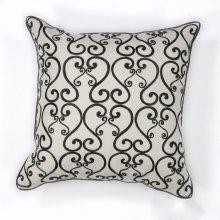 """L120 White/black Luminous Pillow 18"""" X 18"""""""