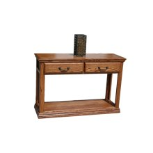 A-T247 Traditional Alder 2-Drawer Console Table