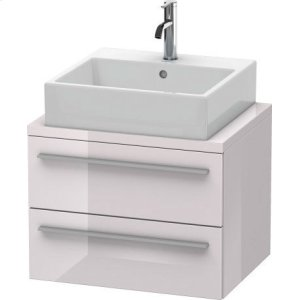 X-large Vanity Unit For Console Compact, White Lilac High Gloss Lacquer