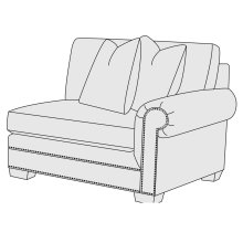 Grandview Right Arm Chair in Mocha (751)