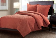 3pc Queen Duvet Set Paprika