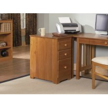 File Cabinet 3-Drawer in Caramel Latte